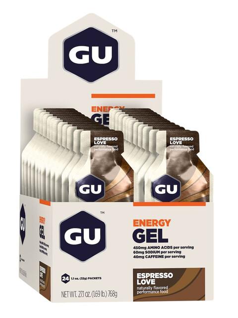 GU Energy Gel Box Espresso Love 24 x 32g